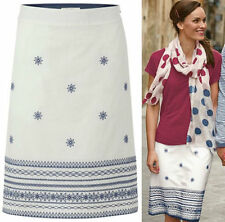 White Stuff Knee Length Cotton Skirts for Women