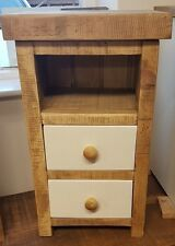 NEW SOLID WOOD RUSTIC CHUNKY WAXED & PAINTED 2 DRAWER BEDSIDES MADE TO MEASURE