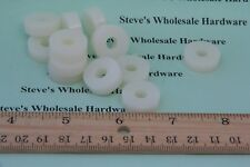 """Nylon Spacer  3/4""""OD  1/4""""ID  1/4"""" Thick Natural White Pick Your Quantity"""