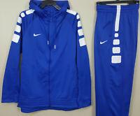 NIKE ELITE BASKETBALL SUIT SWEATSUIT HOODIE + PANTS ROYAL BLUE (SIZE XL / LARGE)