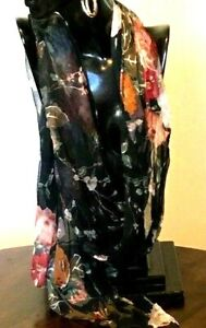 100% Chiffon Viscose / Long Scarf / Kaftan Accessories /Pretty Colours/ RR$69.95