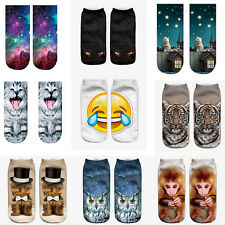 3D Emoji Printed Socks Casual Animal Women Animal Cute Low Cut Ankle Socks