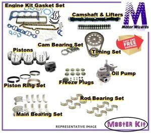 ENGINE REBUILD MASTER KIT Pistons Bearings OPump Cam Lifters