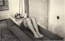 WWII German Large DAK RPPC- Afrika Korps- Africa- Libya- Semi Nude- Sunbathing