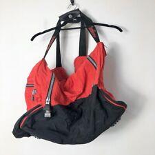 Marlboro Cigarettes Vintage Red and Black Nylon Double Strap Zip Duffle Bag