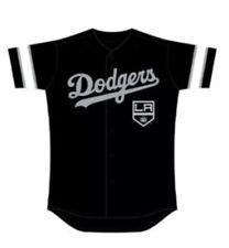 2019 Los Angeles Dodgers LA Kings Jersey Night Special Ticket 8/6  XL