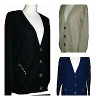New Primark Women Ladies Long Medium knit Cardigan Blue Black Stone Size: 6 - 20