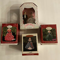 Hallmark Keepsake Holiday Barbie Christmas Ornament Lot Of 4