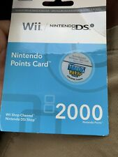 Nintendo Wii Points Card, 2000 Points, Brand New Never Used