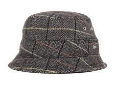 New Era EK Collection Bacchus Bucket Black Plaid Fashion Men's Hat Cap Medium M