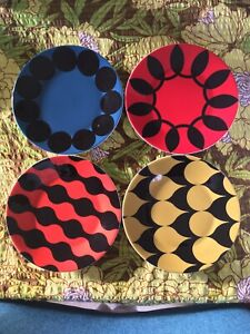 Royal Doulton Charlene Mullen Geometric Accent Plates 16cm / 6.2""