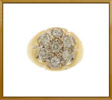 Dinner Ring Ladies or Men's 14K Yellow Gold Diamond Fashion