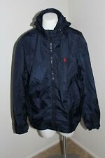 Polo Ralph Lauren Retford Hooded Packable Navy Windbreaker Mens Medium