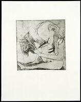 """Kunst in der DDR """"Paar"""" 1986 Radierung Antoinette MICHEL (*1956 D), handsigniert"""
