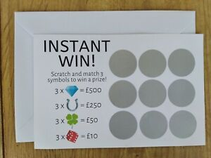 Surprise Baby Pregnancy Announcement Scratch Off Card Scratchcard Match To Win