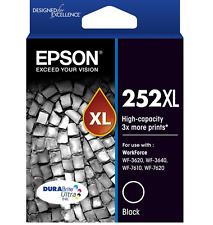 Epson Genuine 252XL Black Ink Cartridge (Original Bag) for WF3620 WF7620 WF3640