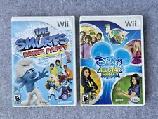 Nintendo Wii. All Star Party and The Smurfs Dance Party
