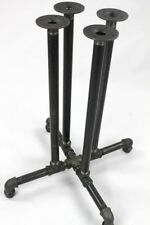 "Black Pipe Table Base ""DIY"" Parts Kit, 3/4"" x 40"" Tall PUB Table Frame Kit"