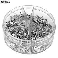 1900pcs Bare Non-insulated Butt Connector Terminals Splice Wire Terminal Kit
