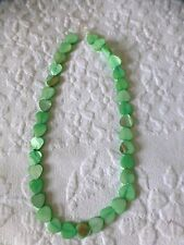 Pretty abalone shell strings of heart shape beads GREEN jewellery craft new