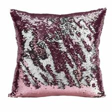 Sequin Cushion Cover 45cm x 45cm Rose/Silver