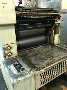 Harris LUS. FR offset printing press. 23x26 inch conventional dampdning system