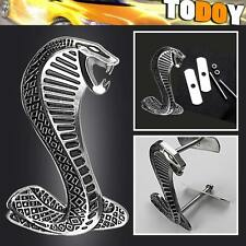 Cobra Snake 3D Metal Logo Car Front Grille Grill Badge Emblem For Ford Mustang