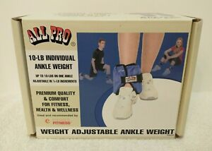 All Pro Adjustable Ankle Weight 10 lb. Workout Equipment EXCELLENT CONDITION!