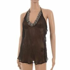 Silk Beaded Strappy, Spaghetti Strap Tops & Shirts for Women