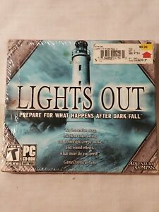 VintageLIGHTS OUT  PC CD-ROM Software Game for Windows 98/ME/2000/XP New wi tags