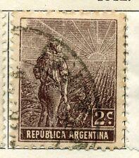 Argentina; 1912 Temprana Edición Definitiva bien Usada Valor 2c.