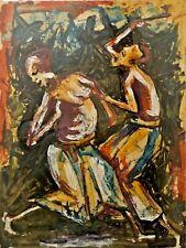 Muvuma / 1970 Congo Peinture Africaine ancienne, African art Painting