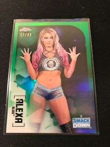 2020 Topps Chrome WWE Alexa Bliss Green Parallel Refractor /99