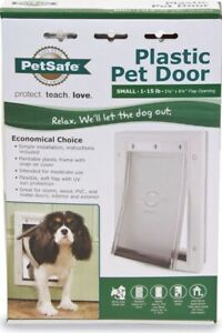 "Petsafe - Plastic Pet Door Small 1-15lb 5 1/8"" X 8 1/4"" Flap Opening New"