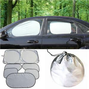 6Pcs Sun Cover Reflective Shade Foldable Car Window Protection Windshield Shield