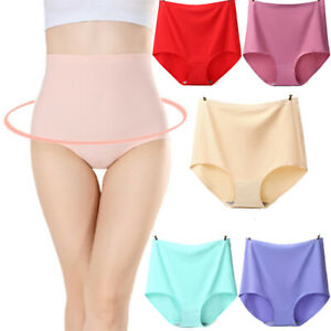 Ice Silk Seamless Panties Women's one Piece Breathable High-Waisted Knickers