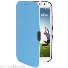 Custodia Originale Azzurra Portafoglio per Samsung Galaxy S4 IV i9500 Flip Cover