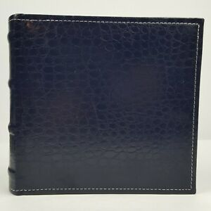Pocket Photo Album Memo Page Hubbed Spine Vinyl Cover 100 4x6 Photos Blue