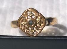 Bague Ancienne Anneau Alliance Or Jaune 18k Diamant pointe XIXeme Napoleon