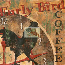 REPRINT PICTURE of coffee print EARLY BIRD COFFEE 6x6