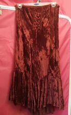 Burgundy Velveteen Skirt S 6 Costume Renaissance Medieval Halloween Elastic