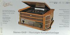 Dual NR50 DAB Nostalgie Plattenspieler Digitalradio CD,USB Kassette Encoding