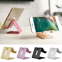 Universal Aluminum Alloy Cell Phone Desk Stand Holder For Samsung iPhone Tablet