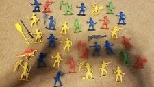 """Greenbrier International Indians Army Men Plastic Toy Soldiers 2"""" 34 pieces"""