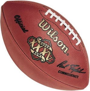 SUPER BOWL XXXV 35 Authentic Wilson NFL Game Football - BALTIMORE RAVENS