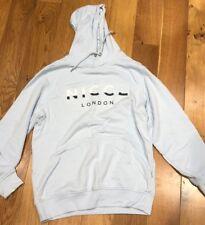 NICCE Cool Blue Split Logo Hoodie Size Large L  *Defective