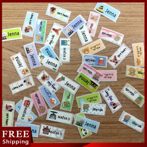 100Pcs personalized NAME tag stickers label custom Waterproof School child gift