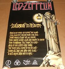 Led Zeppelin Stairway to Heaven Poster 2002 Original 34x22 Funky #8003