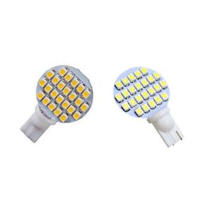 10pcs T10 921 194 led Light Bulb 24-3528 SMD DC12V Car RV Light White/Warm White