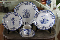 Johnson Brothers Ironstone 20 Piece Dinnerware Service for 4 - Holland Blue